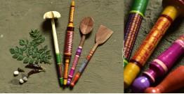 Rasoi ✯ Kutch lacquer ladles { Set of Four } ✯ 9
