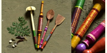 Rasoi ✯ Kutch lacquer ladles { Set of Four } ✯ 9