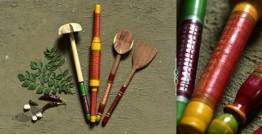Rasoi ✯ Kutch lacquer ladles { Set of Four } ✯ 10