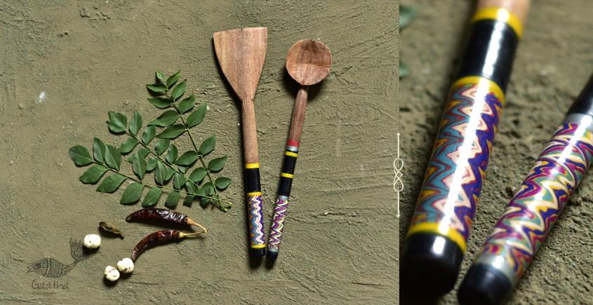 Rasoi ✯ Kutch lacquer ladles { Set of Two} ✯ 11