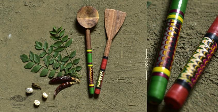 Rasoi ✯ Kutch lacquer ladles { Set of Two} ✯ 7