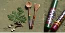Rasoi ✯ Kutch lacquer ladles { Set of Two } ✯ 12