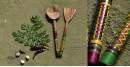 Rasoi ✯ Kutch lacquer ladles { Set of Two } ✯ 5