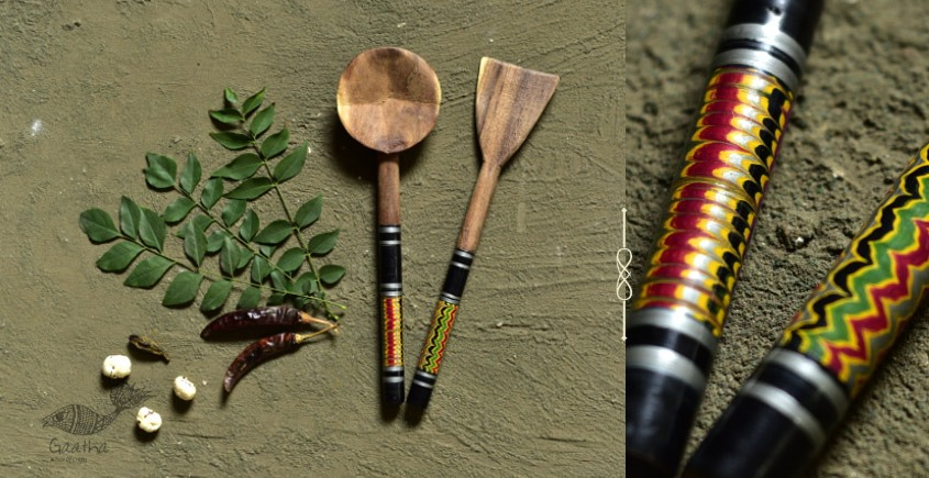 Rasoi ✯ Kutch lacquer ladles { Set of Two } ✯ 6