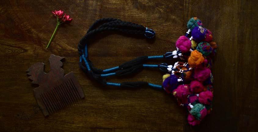 shop exclusive handmade with cotton thread  Kutchi Latkan 8