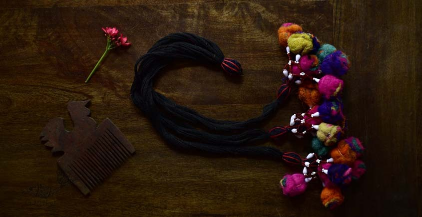 shop exclusive handmade with cotton thread  Kutchi Latkan 9