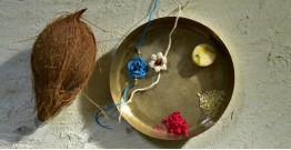 Crocheted Celebrations ❁ Handmade Crochet Flower Rakhi (Set of Two) ❁ E