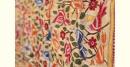 Kantha Hand Embroidered silk dupatta flower motif