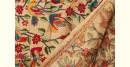 Bengal Kantha silk dupatta flying bird motif