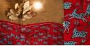 Kantha Embroidered silk dupatta