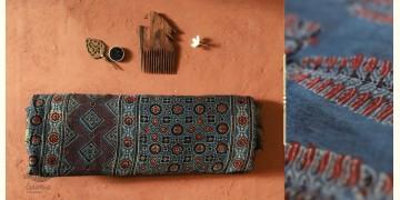 अंजन ◉ Ajrakh Cotton Saree ( Natural Colour ) ◉ 12
