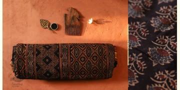 अंजन ◉ Ajrakh Cotton Saree ( Natural Colour ) ◉ 07