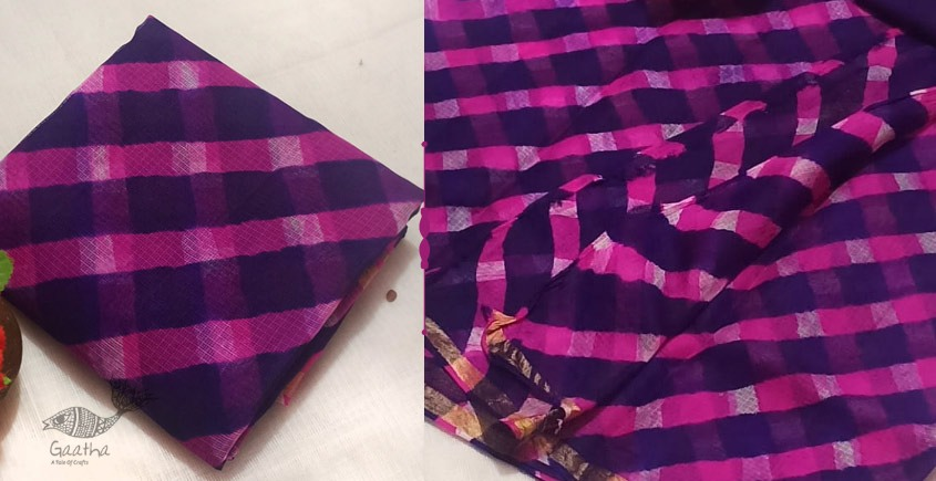 Shop Silk Kota Leheriya Saree - Rajasthan, Tie & Dye