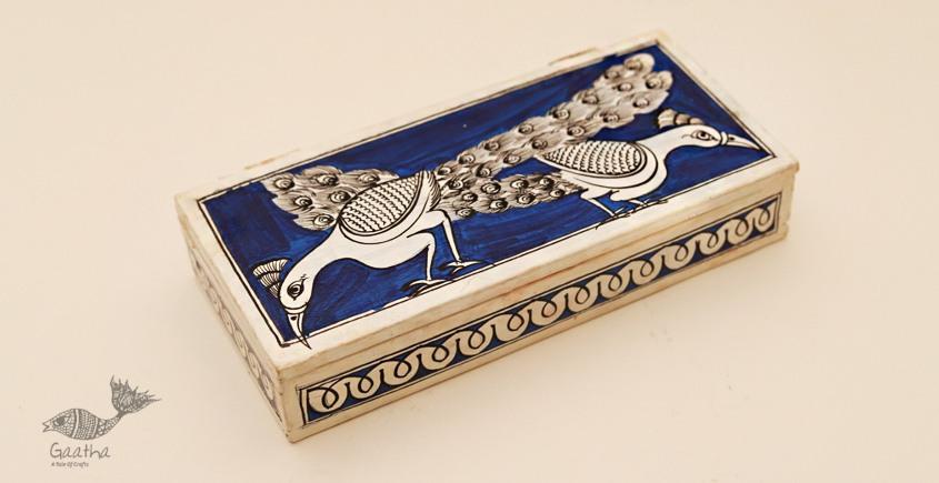 Wooden box ☀ Peacock (Blue) 103