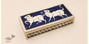Wooden box ☀ Cow (Blue) - 104