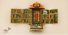 कथनिक ☀ A Wooden Shrine ( Green - 29 cm) ~ 115