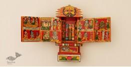 कथनिक ☀ Kaavad ~ A Wooden Shrine (Red - 20 cm) ~ 119