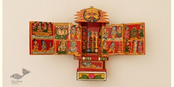 कथनिक ☀ Kaavad ~ A Wooden Shrine (Red - 20 cm) ~ 119