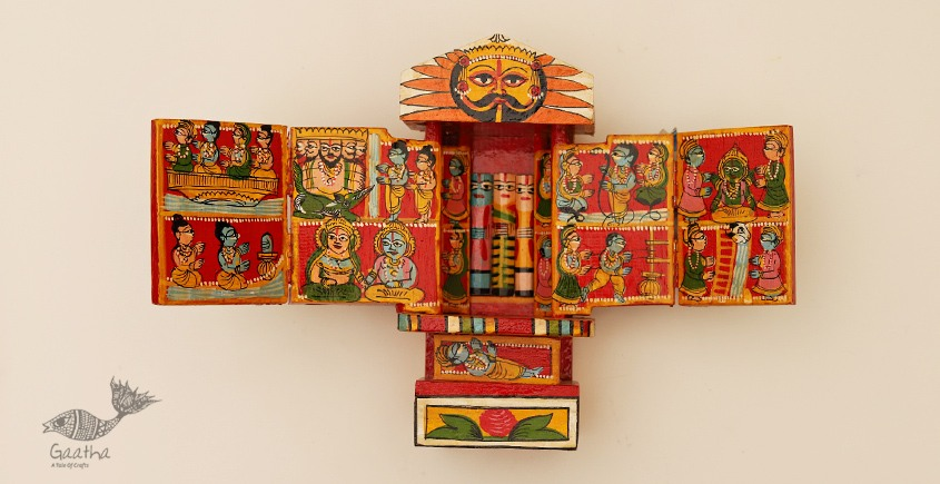 buy online handmade wooden Kaavad - red 20 cm