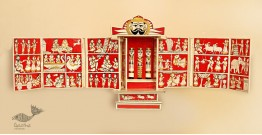 कथनिक ☀ A Wooden Shrine ( Red - 41 cm) ~ 133