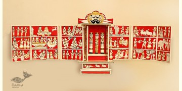 कथनिक ☀ A Wooden Shrine ( Red - 41 cm) ~ 133