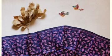 पुष्पारम ✽ Kantha Silk Stole ✽ O