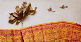 पुष्पारम ✽ Kantha Silk Stole ✽ M