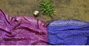 summer special Cotton Bandhani Purple Saree