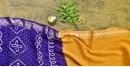 summer special Cotton Bandhani yellow Saree