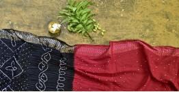 Nianboli . निंबोली  ❂ Cotton Bandhani Saree ❂ 6