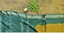 summer special Cotton Bandhani Green-Yellow Saree