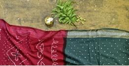 Nianboli . निंबोली  ❂ Cotton Bandhani Saree ❂ 8