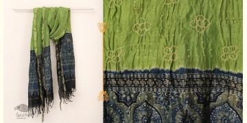 From the Wardrobe ☙ Chanderi Ajrakh-Bandhni Dupatta ☙ A