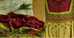 Pearls of Wisdom ❉ Bandhani Gajji Silk Dupatta ❉ 4