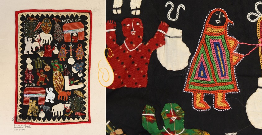 Everyday Work  Story ❂  Embroidered Applique Art