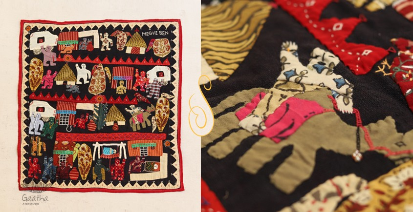 Story of life  ❂  Embroidered Applique Art