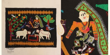 Farmer Couple   ❂  Embroidered Applique Art