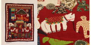 Story of a Saint  ❂  Embroidered Applique Art