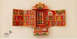 कथनिक ☀ A Wooden Shrine ( RED - 29 cm) ~ 113