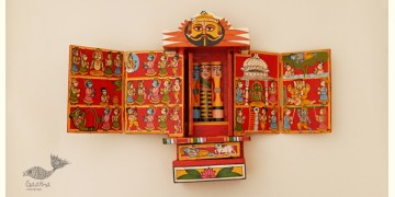 कथनिक ☀ A Wooden Shrine ( RED - 29 cm) ~ 113
