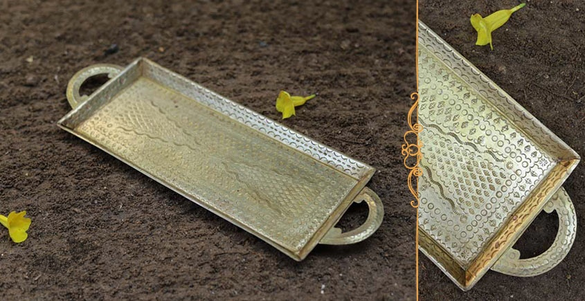 Ahar ✽ Brass ~ Serving Tray  (14 x 5 x 0.7 )