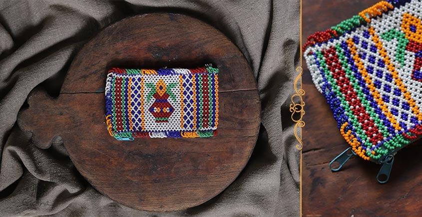 Tribal trails  ~ Bead Mini Purse (5.2 x 3)