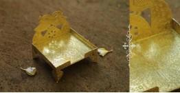 """Ahar ✽ Brass ~ Aasan (Medium 4.6"""" x 4.6"""" x 5.2"""")"""