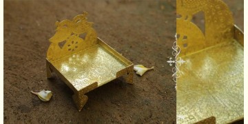 "Ahar ✽ Brass ~ Aasan (Medium 4.6"" x 4.6"" x 5.2"")"