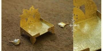 """Ahar ✽ Brass ~ Aasan (Small 4"""" x 3.8"""" x 4"""")"""