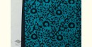buy online wax batik dress material with dupatta - bright colors Rama and Black color