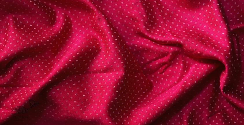 Mashru ❆ Silk+cotton (Rani Pink Colour) ❆ Fabric ❆ 11 ( Per meter )