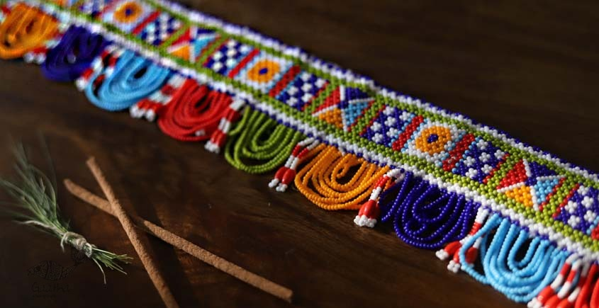 शुभ लाभ ⁂ Glass Bead ⁂ Temple Toran ( S )⁂ 24