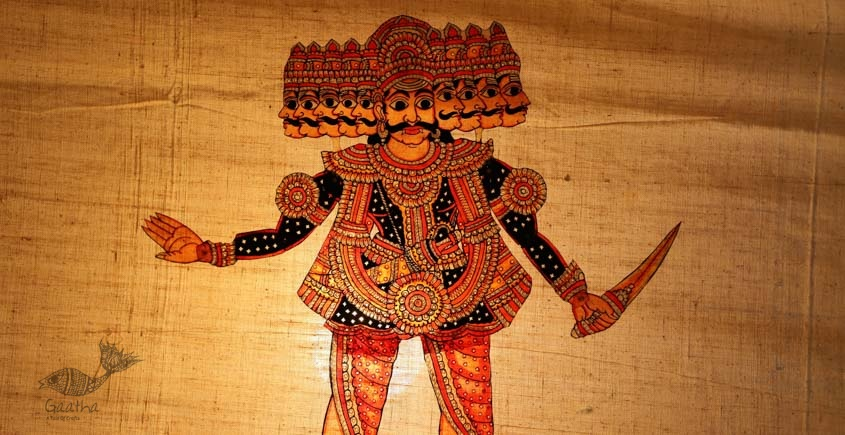 shop hand made leather puppets - Raavan