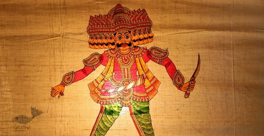 shop hand made leather puppets - Raavan 14